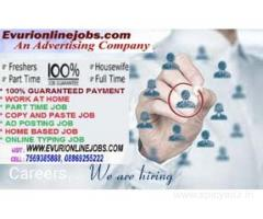 Part Time Job Available, Earn Rs.350/- to Rs.500/- Per Hour, Online Data Entry Workers Needed