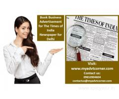 Times of India Delhi Business Advertisement