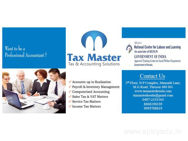 GST practitioner course in Thrissur, Kerala - TAX MASTER - 0487-2333163 - 1