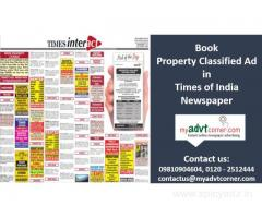 Times of India Property Advertisement Ad Booking Online