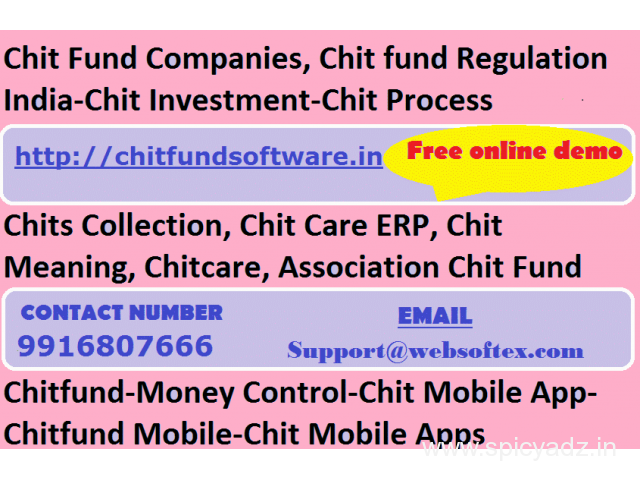 Chitfund Company management software Chit Fund  Accounting Software