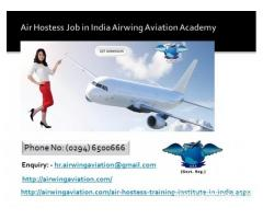 Air Hostess Job in India Airwing Aviation Academy