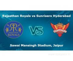 Rajasthan Royals Vs Sunrisers Hyderabad, 28th Match Today Match