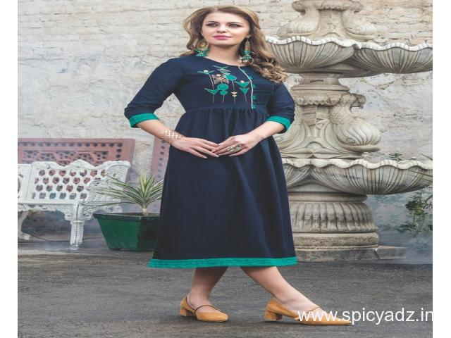 Get digital printed kurti sell by the top wholesalers in India