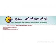 JOB VACANCIES IN POORAM FINSERV KOZHINJAMPARA AND CHITTUR