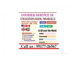 Fastest Document Parcel Delivery Chandigarh to USA Canada Australia UK