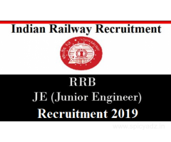 RRB Junior Engineer 14033 Vacancies Recruitment 2019 Get Details