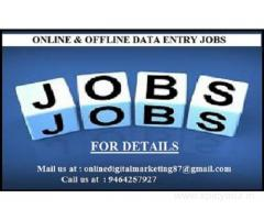 Data entry is completely offline job(no need internet).