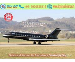 Take Sky Air Ambulance Service in Bilaspur with exceptional Medical Tools