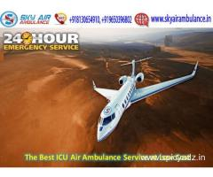 Receive Immediately Sky Air Ambulance Service in Goa with Doctor