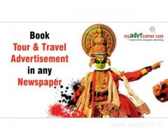 Travel Advertisement in Newspaper through Online