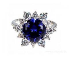 Buy Majestic Royal Blue Diamond Ring