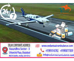 Fast and Secure Transfer Facility Vedanta Air Ambulance from Delhi