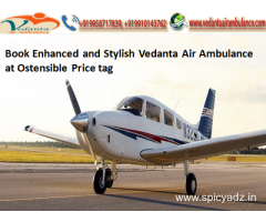 Vedanta Air Ambulance from Patna with Medical Equipment