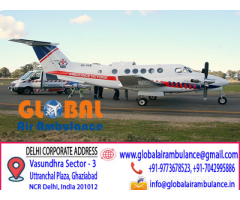 Global Air Ambulance Service in Delhi with Advance Medical Setups