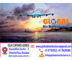 Global Air Ambulance from Guwahati at Manageable-cost