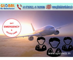 Global Air Ambulance in Siliguri with Specialized Medical Team