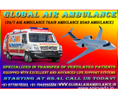 Emergency service supplier by Global Air Ambulance from Jaipur