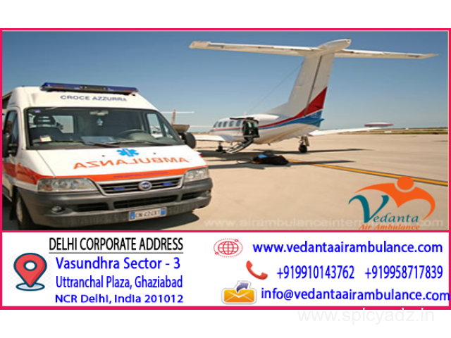 Vedanta Air ambulance from Mumbai with Verified MD Doctors