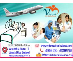 Fully fledged Vedanta Air Ambulance from Delhi
