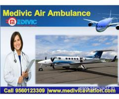 Low Fare Air Ambulance Service in Delhi by Medivic Aviation
