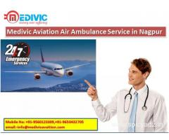 Book Medivic Aviation Air Ambulance Service in Nagpur Quickly