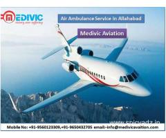 Get the Low Budget Medivic Aviation Air Ambulance Service in Allahabad