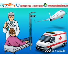 Vedanta Air Ambulance in Bagdogra with extremely Educated Medical Team