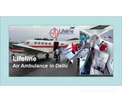 Lifeline Air Ambulance in Delhi Deliver Bed-to-Bed Service for Emergency
