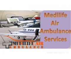 Medilife Air Ambulance in Patna is Equipped with ICU Amenity