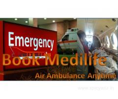Medilife Air Ambulance in Ranchi Imparts Intensive Care Onboard