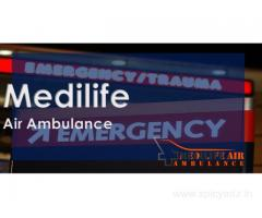 Medilife Air Ambulance in Jamshedpur Involves Advanced Life Support Onboard
