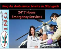 Hire the Magnificent Air Ambulance Service Dibrugarh-By King Air