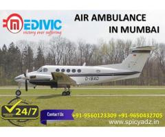 Take Aerial Hi-tech ICU Support Air Ambulance in Mumbai by Medivic