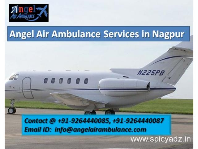 Search the Low Cost Angel Air Ambulance Services in Nagpur - 1