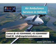 Grab Quick Angel air ambulance services in Vellore