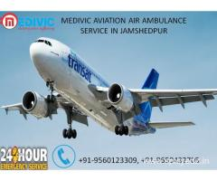 Get Low-cost Emergency Patients Transfer service in Jamshedpur by Medivic Aviation