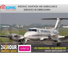 Hire Vital Air Ambulance service in Dibrugarh by Medivic Aviation