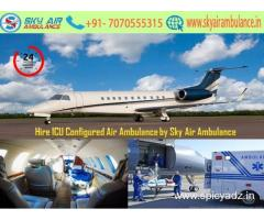 Choose World's Extra Advanced Air Ambulance in Coimbatore by Sky Air Ambulance