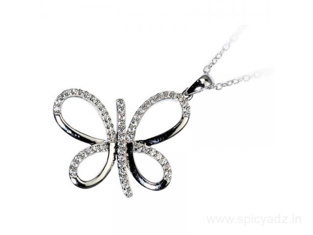 Buy 925 Pure Silver Butterfly Pendant at ornate jewels