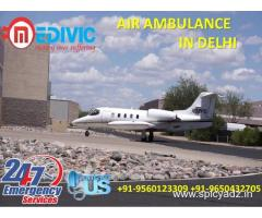 Now Book World Class Commercial Charter Air Ambulance in Delhi by Medivic