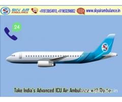 Available World-Class ICU Air Ambulance Service in Bangalore by Sky Air Ambulance