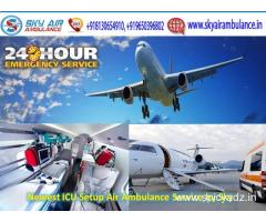 Receive Superior Air Ambulance Service in Dibrugarh by Sky Air Ambulance