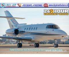 Obtain Air Ambulance Service from Raipur to Delhi by Sky