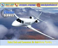 Take High-Quality Emergency Air Ambulance Service in Jamshedpur by Sky