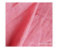 Red Square Checks on White Base Khadi HandloomFabrics