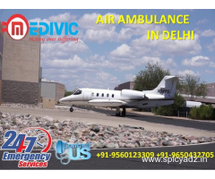 Now Book Precise ICU Emergency Care Air Ambulance in Delhi by Medivic
