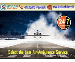 Receive Sky Air Ambulance from Raipur to Delhi without Extra Charge