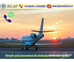 Choose Quick Medical Emergency Air Ambulance Service in Jaipur by Sky