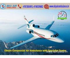 Avail Sky Air Ambulance Service in Srinagar with Verified Medical Staff by Sky